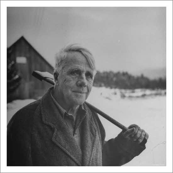 Photo editor poet robert frost in affable portrait axe for 13th floor growing old