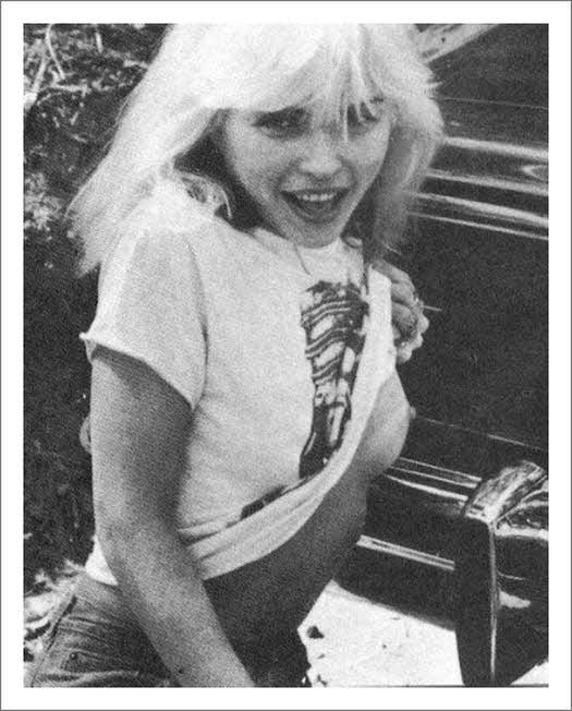 Debbie Harry nipple flash,  TITS, BOOBS, BLONDIE, SEMI NUDE