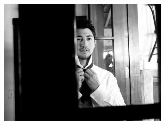 Photo editor black white groom tying tie 22501 for 13th floor growing old