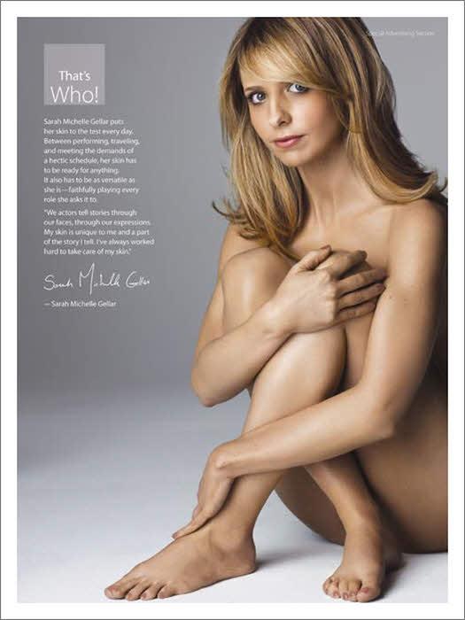 Star Actress Model Singer Sarah Michelle Gellar Naked Nude Spread