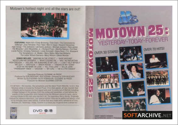 Video motown 25 yesterday today forever hosted by for 13th floor with diana live dvd